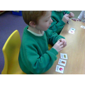 "We ""won"" cards by naming their shapes"