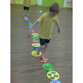 Now we hop along the numberline saying the numbers
