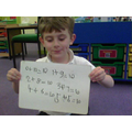 I can write number bonds as number sentences