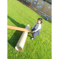 We made a new seesaw for the children