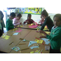 We were making paper ice lollies!