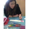 Mrs Stokes showed us how to paint wet-on-wet...