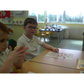 We listened for rhymes by playing rhyming bingo