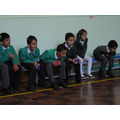 Having fun learning the skills of boccia