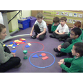 Once we'd sorted, the others guessed our 'rules'