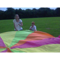 WE did some parachute games