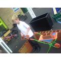 I used the wheelbarrow, too!