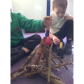 Our structure was 30cm tall