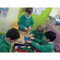 We built landscapes from lego