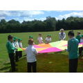 We played PSHE games outside with 4A