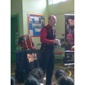 Mrs Fearn asked a magician to come to school!