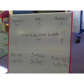...then we wrote the number sentence together!