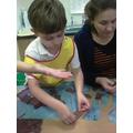 Mrs Stokes got very sticky!