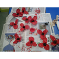Here are all the poppies we made!