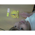 I am learning to tell time to the half hour