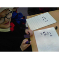 I am learning to write more numbers!