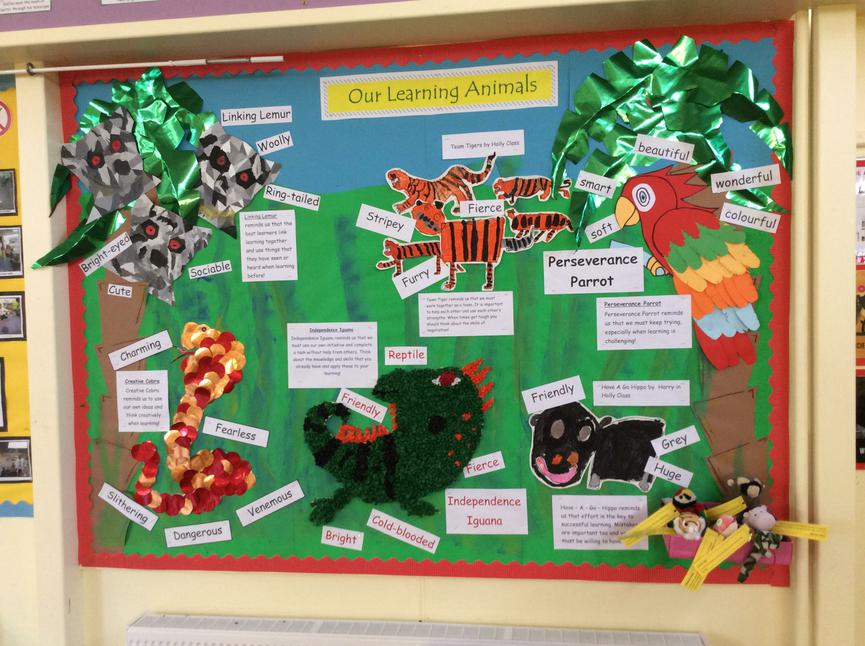 Our learning character display at Orchard site