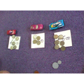 I can make totals using pound coins