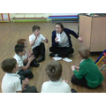 We had a drumming lesson on Wednesday