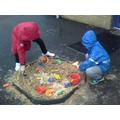 We loved making sand castles!