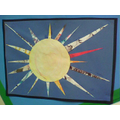 One of the finished suns on display!