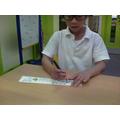 I am learning to count on using a numberline
