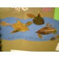 Leaf fish in the stream