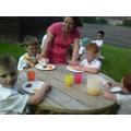 Mrs Hough gave us plenty of food