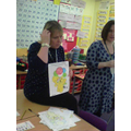 Mrs Pipes judged the colouring competition