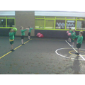 We went outside for PE one day this week