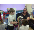 We used these puppets to help us!