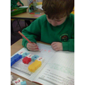 I am learning to add, and write number sentences