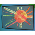 A finished sun on display!