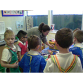 Everyone looked and listened carefully