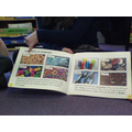 We looked at a book about materials