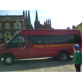 Here we are on our trip, arriving in Lichfield