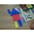 My house had a square, rectangles and a triangle