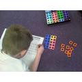 We used numicon to bridge 10 using pairs to 10
