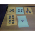 This group counted out coins to make dot patterns