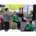 In social skills, we were listening carefully
