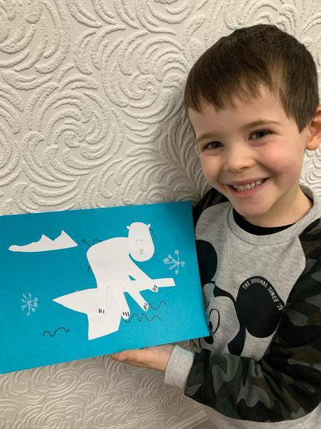 Toby's hand print polar bear