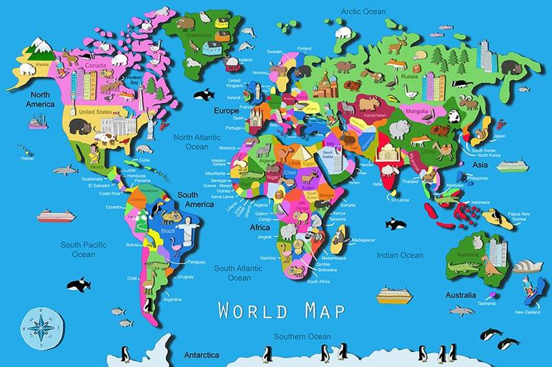 A map is flat