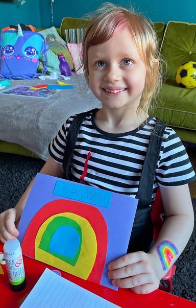 Violet's rainbow