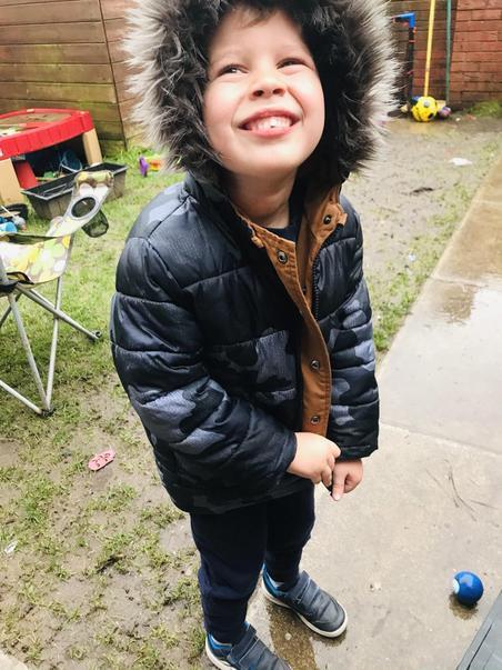 Alfie in the rain