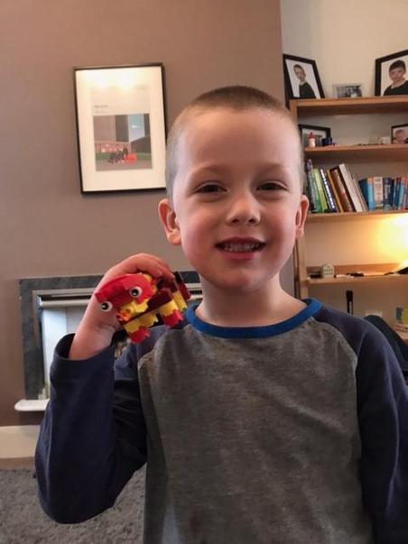 Bobby's Lego dragon