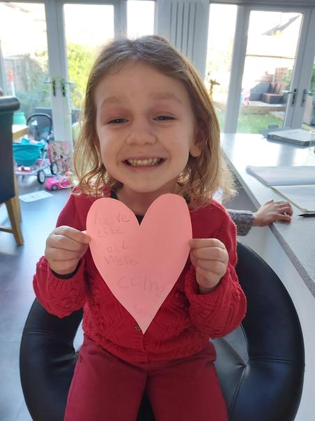 Bella's heart is full ... of tricky words