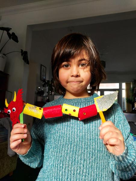 Charlie's Chinese dragon