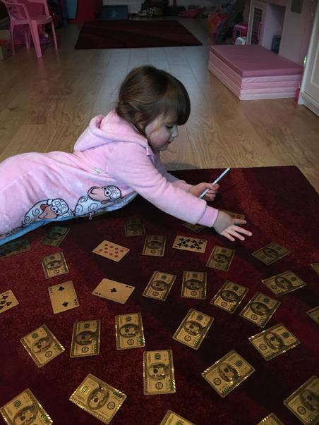 Playing card addition activity