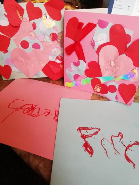 Iggy made Valentine cards