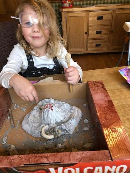 Phoebe's volcano exploration